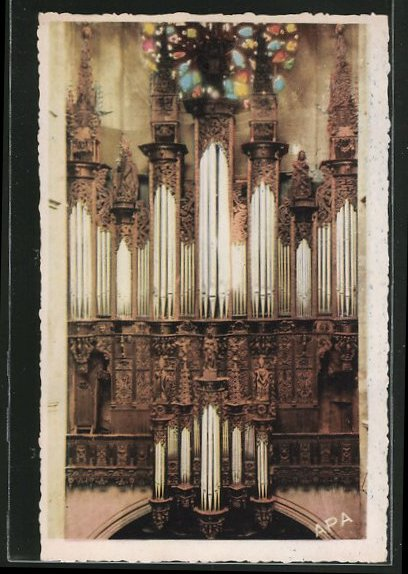 AK Rodez, Intérieur de la Cathédrale, Les grandes Orgues, grosse Orgel