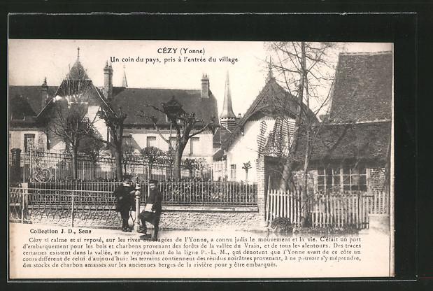 AK Cezy, Un coin du pays, pris a l'entree du village