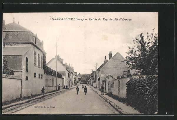 AK Villevallier, l'entrée du pays du côté d'Armeau