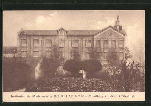 AK Montlhéry, carte promotionnelle pour l'institution de jeunes filles de Mlle Rouillaud