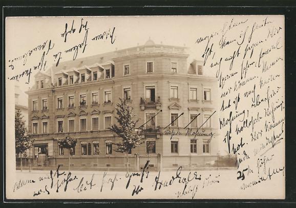Foto-AK Dresden-Striesen, Wohnhaus in der Kipsdorfer Strasse 111