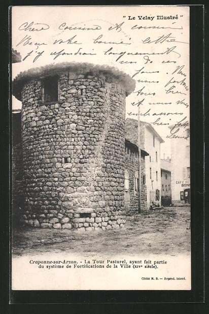 AK Craponne-sur-Arzon, La Tour Pasturel