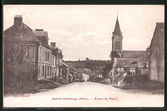 AK Sainte-Gauburge, Route de Paris