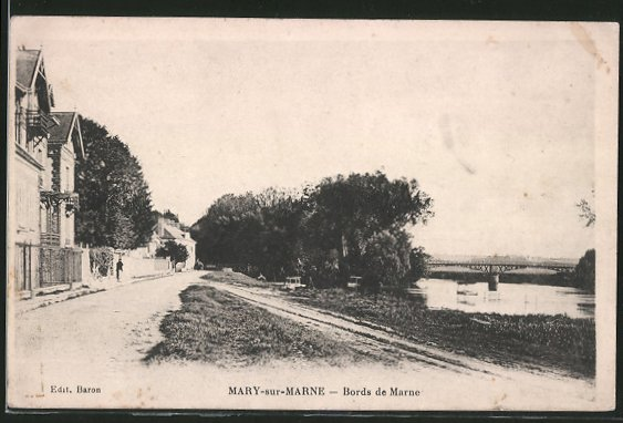 AK Mary-sur-Marne, Bords de Marne