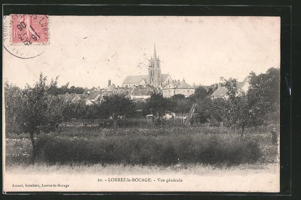 AK Lorrez-le-Bocage, Vue Générale, vue depuis les champs