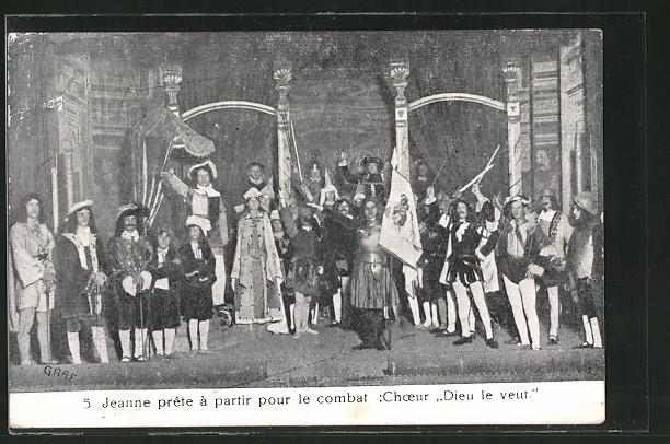 AK Mulhouse, Théâtre Jeanne d'Arc, Paroisse St. Joseph, Jeanne préte à partir pour le combat