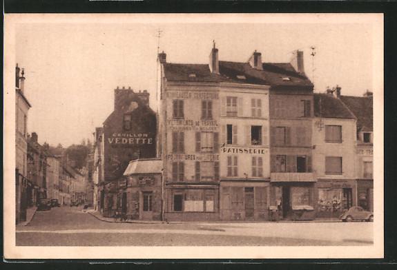 AK La Ferte-sous-Jouarre, La Place et la Rue de la Gare