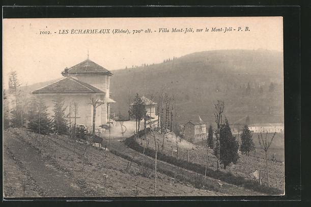 AK Les Écharmeaux, Villa Mont-Joli, sur le Mont-Joli