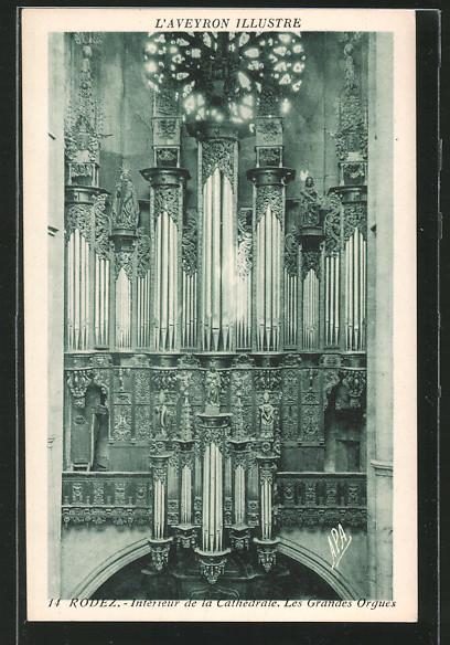 AK Rodez, Interieur de la Cathedrale, Les Grandes Orgues, grosse Orgel