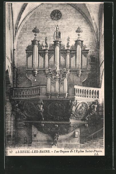AK Luxeuil-les-Bains, Les Orgues de l'Eglise Saint-Pierre, Blick auf die Orgel