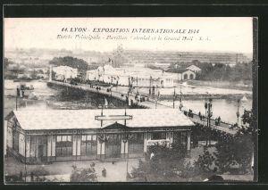 AK Lyon, Exposition Internationale 1914, Entrée Principale, Pavillon Colonial et le Grand Hall, Ausstellung