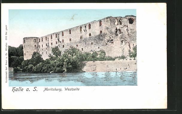 AK Halle / Saale, Moritzburg, Westseite