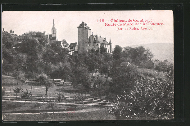 AK Chateau de Combret, Route de Marcillac á Conques