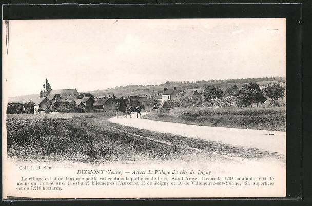 AK Dixmont, Aspect du Village du coté de Joigny
