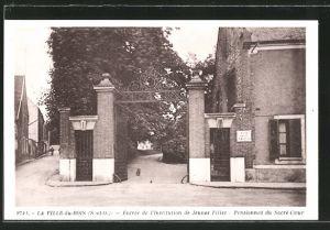 AK La Ville-du-Bois, Entrée de l'Institution de Jeunes Filles