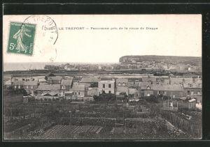 AK Le Tréport, Panorama pris de la route de Dieppe