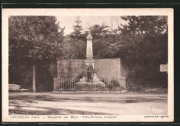AK Chuzelles, Monument aux Morts