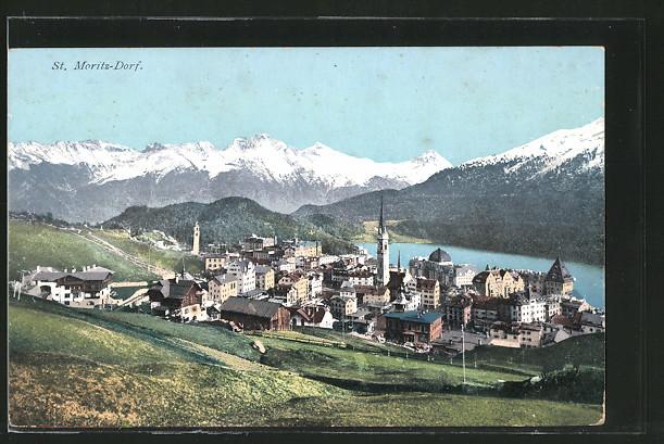 AK St. Moritz-Dorf, Gesamtansicht