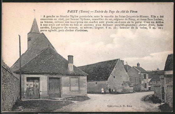 AK Passy, Entrée du Pays du côté de Véron