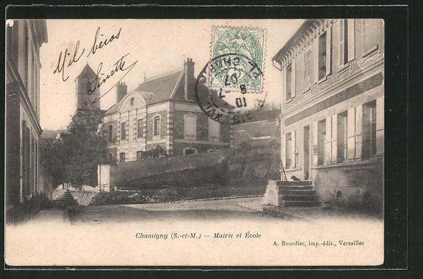 AK Chamigny, Mairie et École