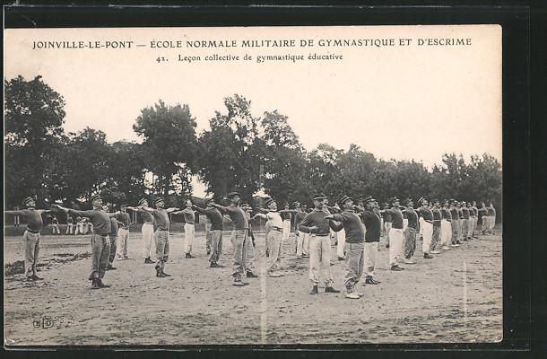 AK Joinville-le-Pont, École Normale Militaire de Gymnastique et d'Escrime, Lecon collective de gymnastique éducative