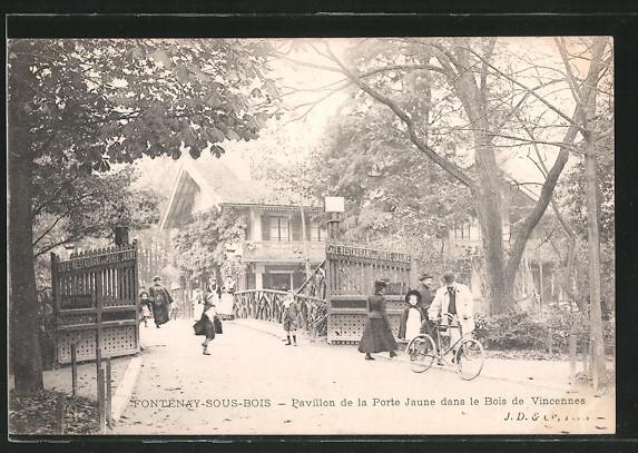 AK Porte Jaune, le restaurant Nr 6371582 oldthing Ansichtskarten Europa Belgien Frankreich  # Ouverture De Porte Fontenay Sous Bois