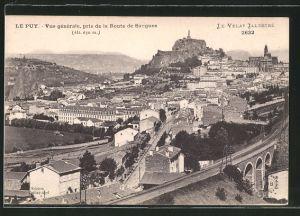 AK Le Puy, Vue generale, pris de la Route de Saugues