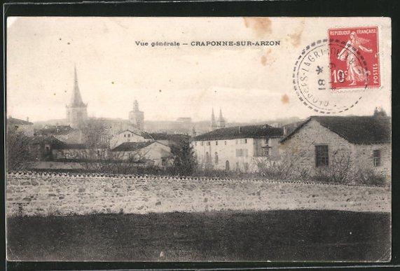 AK Craponne-sur-Arzon, Vue generale