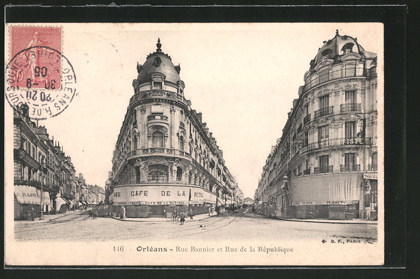 AK Orléans, Rue Bannier et Rue de la République