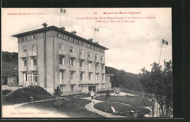 AK Lozere-Gard, Grand Hotel du Mont-Aigoual, Vue de la Facade