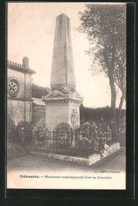AK Châteaudun, MOnument commémoratif élevé au Cimetiere