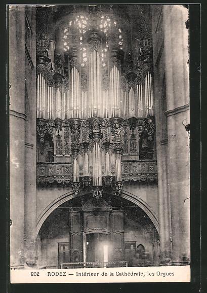 AK Rodez, Intérieur de la Cathédrale, les Orgues