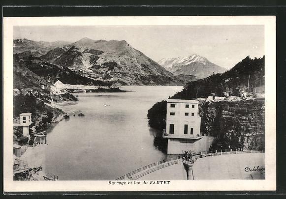 AK Sautet, Barrage et lac du Sautet