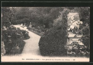 AK Asnières-Clichy, Vue générale du Cimetière des Chiens, Hundefriedhof