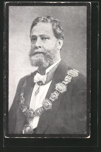 AK Portrait Bürgermeister Dr. Carl Lueger im Anzug
