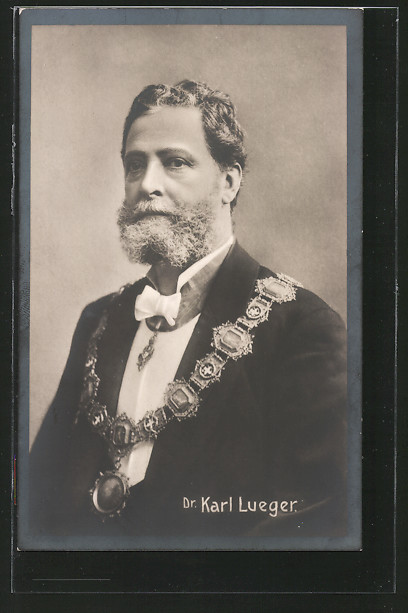 AK Bürgermeister Dr. Carl Lueger im Anzug