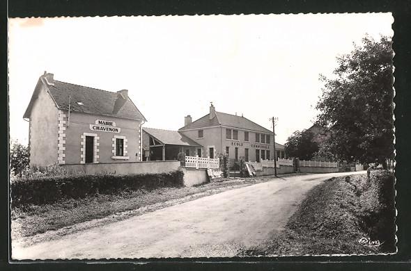 AK Chavenon, ecole et mairie