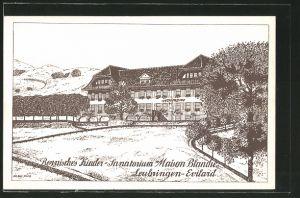 AK Leubringen-Eviland, Bernisches Kinder- Sanatorium Maison Blanche