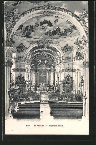 AK St. Gallen, Klosterkirche, Inneres