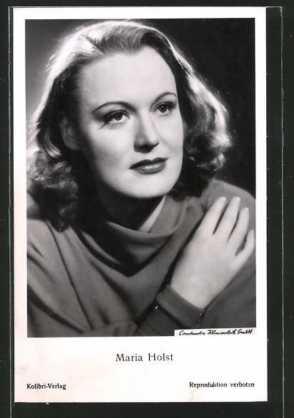 AK Schauspielerin Maria Holst zur Seite schauend