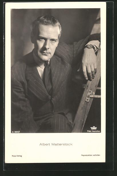 AK Portrait des Schauspielers Albert Matterstock