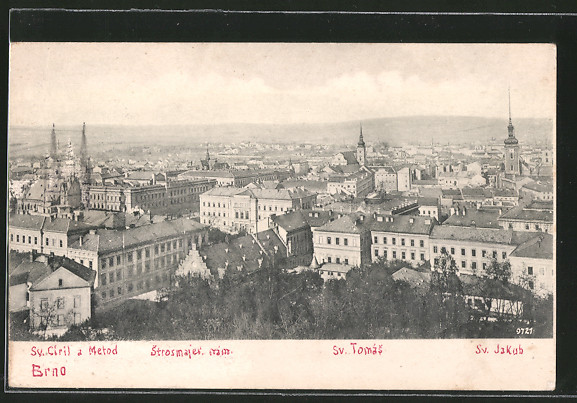 AK Brünn / Brno, Sv. Ciril a Metod, Sv. Tomas, Sv. Jakub