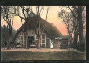ak leuchtenburg gasthaus bruns garten mit leuten nr ForBruns Garten Leuchtenburg
