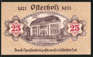 Notgeld Osterholz 1921, 25 Pfennig, Kreishaus