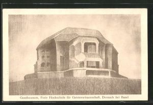 Künstler-AK Dornach, Goetheanum, Freie Hochschule für Geisteswissenschaft