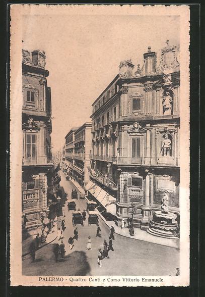 AK Palermo, Quattro Canti e Corso Vittorio Emanuele