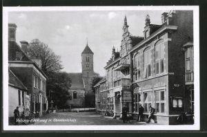 AK Velsen, Kerkweg met Gemeentehuis
