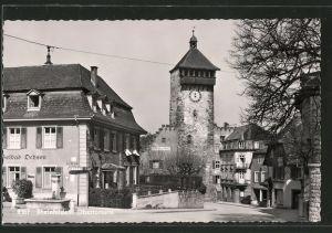 AK Rheinfelden, Obertorturm, Solbad Ochsen und Gasthaus zum Kranz