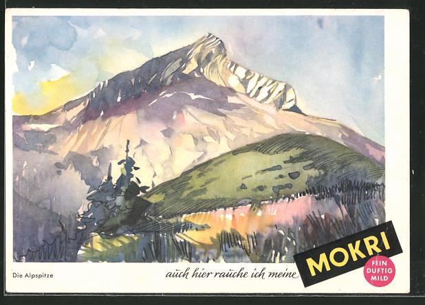 AK Die Alpspitze, auch hier rauche ich meine Mokri, Fein, durftig & mild