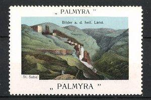 Reklamemarke Serie: Bilder aus dem heiligen Land, St. Saba